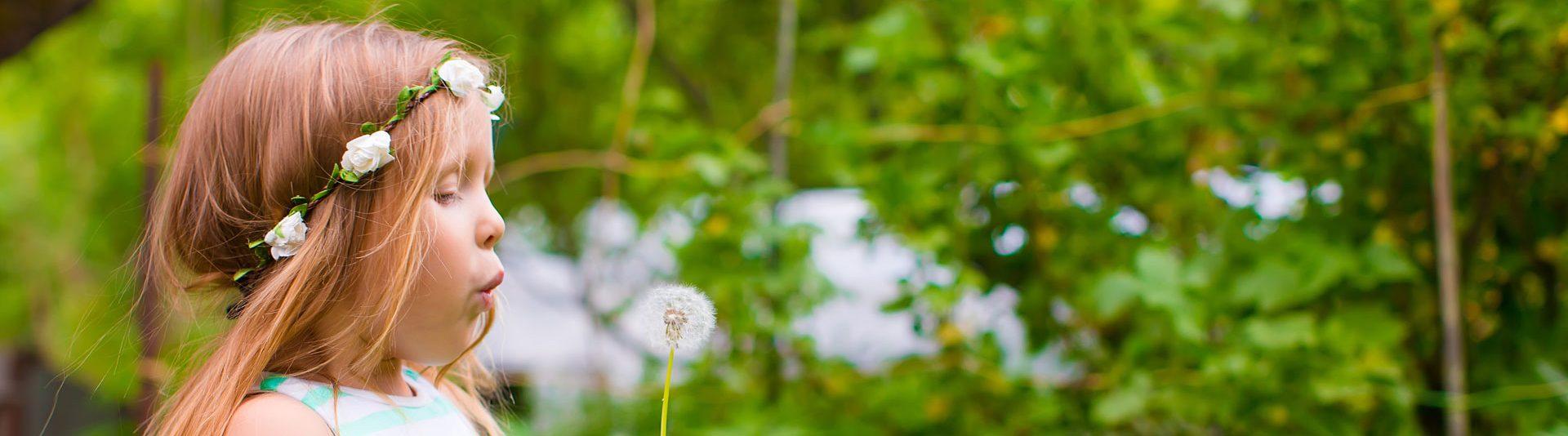 girl dandelion