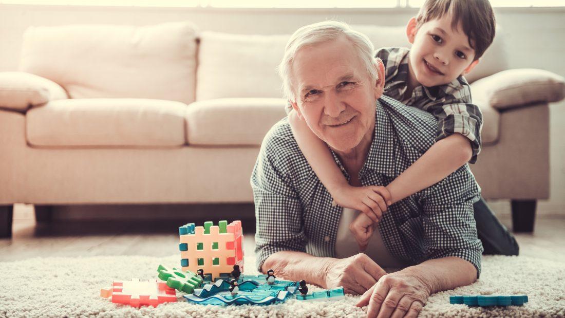 Elderly Man living life to the full