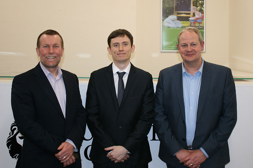 George Simpson, David Williams and Steve Collier of Furnley House